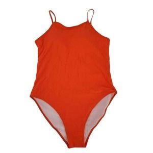 Miss Adola Neon Orange Swimsuit One Piece NWT 12